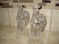 Glass Angel Candle Holders
