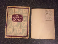 Collectable vintage golf pamphlet and golf rules booklet