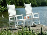 White Porch Rockers and Table CRP Products.