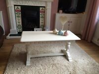 Beautifully detailed hand painted coffee table in Farrow&Ball