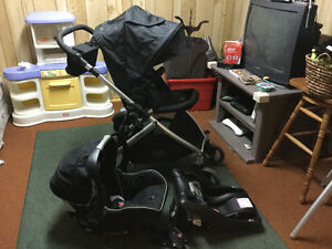 Britax B-Ready stroller and B-Safe infant car seat plus base.