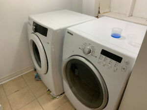 Samsung WF210ANW 4.0 cu. ft. Front Load Washer and Dryer - WORK
