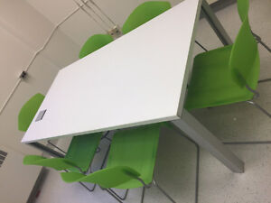 Modern Lime Green Stacking Chairs