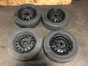 USED GOOD YEAR SUMMER TIRES 15 INCH METAL RIMS 5 BOLT 195/60R15