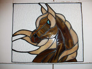 stained glass suncatcher horse