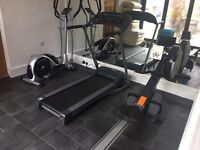 Rowing Machine, Treadmill, Cross Trainer