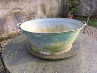 Old tin baby bath