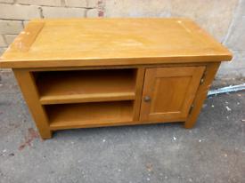 Oak tv stand wood