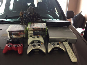 Xbox 360 Special Edition with 3 controllers and assorted games