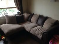 Corner settee with a chair