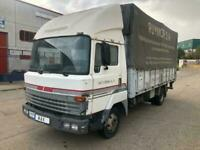Left hand drive Nissan L80 curtainsider with tail-lift, Perkins engine