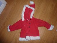 Santa Coat, size 12 - 18m, excellent condition