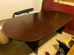 Conference Table with 6 Chairs and Reception Desk