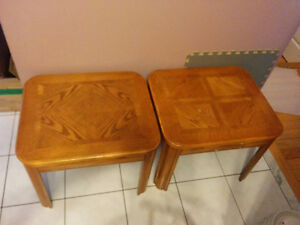 USED SIDE TABLE X 2($50), LOVESEAT($120),TABLE LAMPS X 2($40)