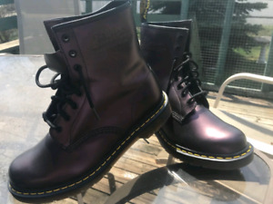 NEW - Dr.Martens 1460 Shimmer Purple Boots Size 10 US