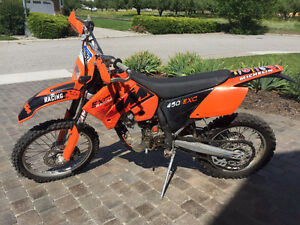 2006 KTM 450 EXC, very nice shape!