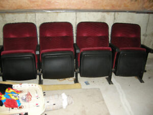 4 x Original Vintage Theater Seats for Home Theater - Best Offer