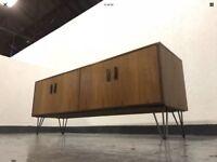Vintage Retro 1970s G-Plan Teak Sideboard Cabinet on Hairpin Legs