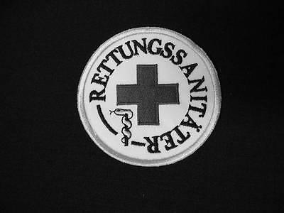 Rettungssanitäter Rundemblem Emblem Patch Aufnäher NEU