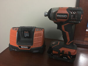 Rigid impact gun - Cordless 18VLi-ion with 4Ah battery + charger