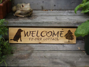 HANDMADE WOODBURNING SIGN- WELCOME TO OUR COTTAGE!
