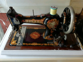 Antique Jones sewing machine from late 1800's early 1900's