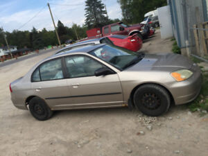 2002 honda civic  auto parting out