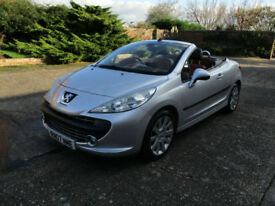 07 Peugeot 207 CC 1.6 16v 120 Coupe GT Convertible, Cabriolet, Low miles.