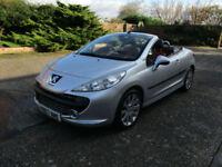 07 Peugeot 207 CC 1.6 16v 120 Coupe GT Convertible, Cabriolet, Low miles.