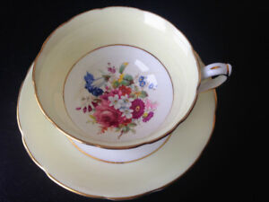 Hammersley Teacup and Saucer - Yellow - $30