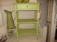 """""""Located at C'est La Vie"""" Cheery green occasional table"""