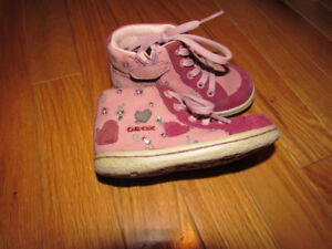 Size 5.5 Toddler Girl's Geox shoes....excellent shape!