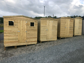 Garden wooden sheds & storage boxes