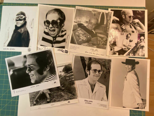 Elton John mixed lot original promo 8x10 glossy photos 1970s 1980s