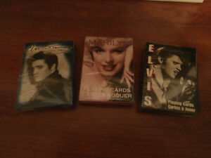 SEALED 2 PK ELVIS AND 1 PK MARILYN PLAYING CARDS