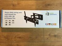 "Swing arm wall bracket for lcd or plasma 32 - 70"" TVs"