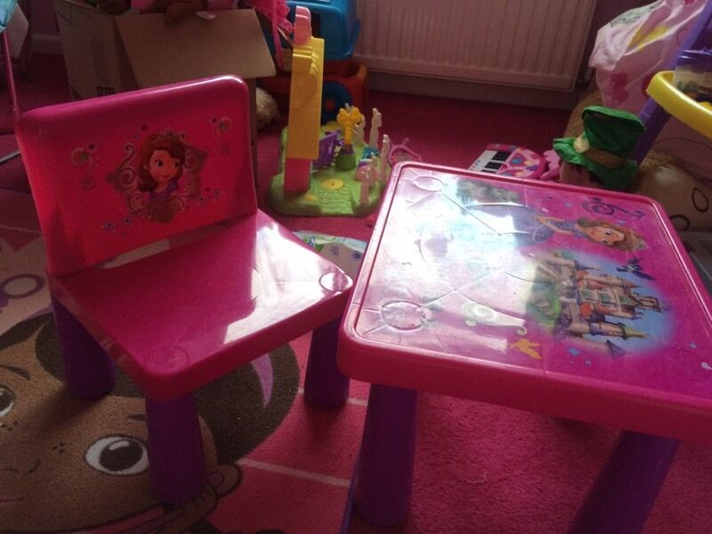 Sofia The First Table And Chairs In Clydach Swansea Gumtree