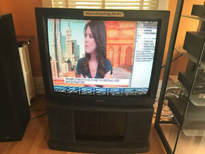 Mitsubishi 40 Inch Tube Television with Custom Stand