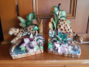 Fitz & Floyd Exotic Jungle Cheetah Bookends