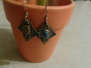 Vintage 3 Layered Earrings (1 stone missing) ..$15 obo
