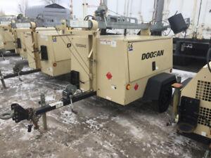 TOWER LIGHT Doosan, Ingersoll-Rand, Magnum 6KW Kubota Generator