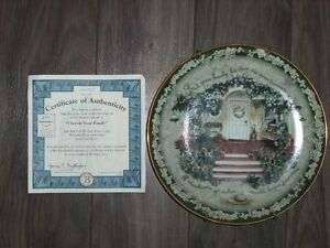 BRADFORD EXCHANGE LIMITED EDITION CHERISH YOUR FAMILY PLATE