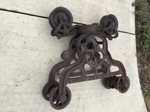 Antique hay trolley, Emerson & Campbell, Tweed, Ont