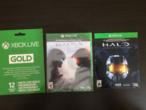 Xbox gold subscription, Halo 5 & Halo master chief download code