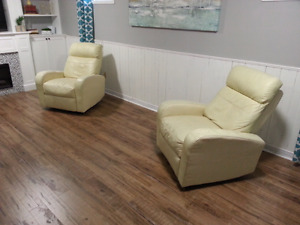 Reclining, rocking sofa chairs (used)