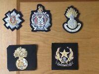 A selection of Scottish Regimental Blazer Badges - Gold Wire