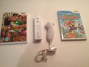Wii divers:Super Mario Paper-Pounch Out-manette-nunshock..