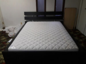 Queen size ikea bed and matress for sale