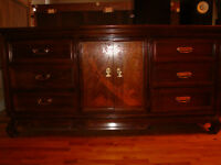 Full set of bedroom furniture, solid wood.