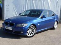2009 BMW 3 SERIES 318I SE BUSINESS EDITION FULL SERVICE HISTORY SAT NAV BLACK LE